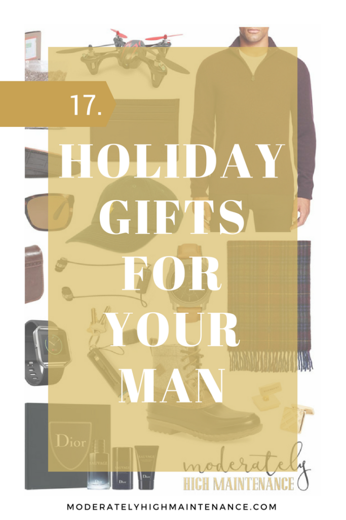 Regardless of the occasion, you want to make sure you give that special guy in your life something he loves! Here is the Moderately High Maintenance gift guide for that man in your life!