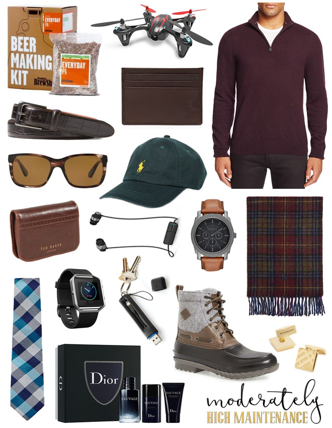 Christmas is literally around the corner. Here is the Moderately High Maintenance gift guide for that special guy in your life!