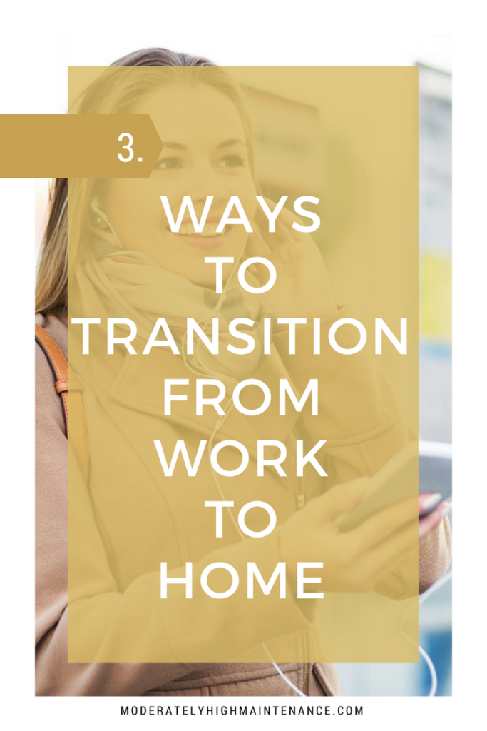 There are other days when it just seems difficult to leave work at the office. Here are three ways to transition from work to home to have peaceful evening!