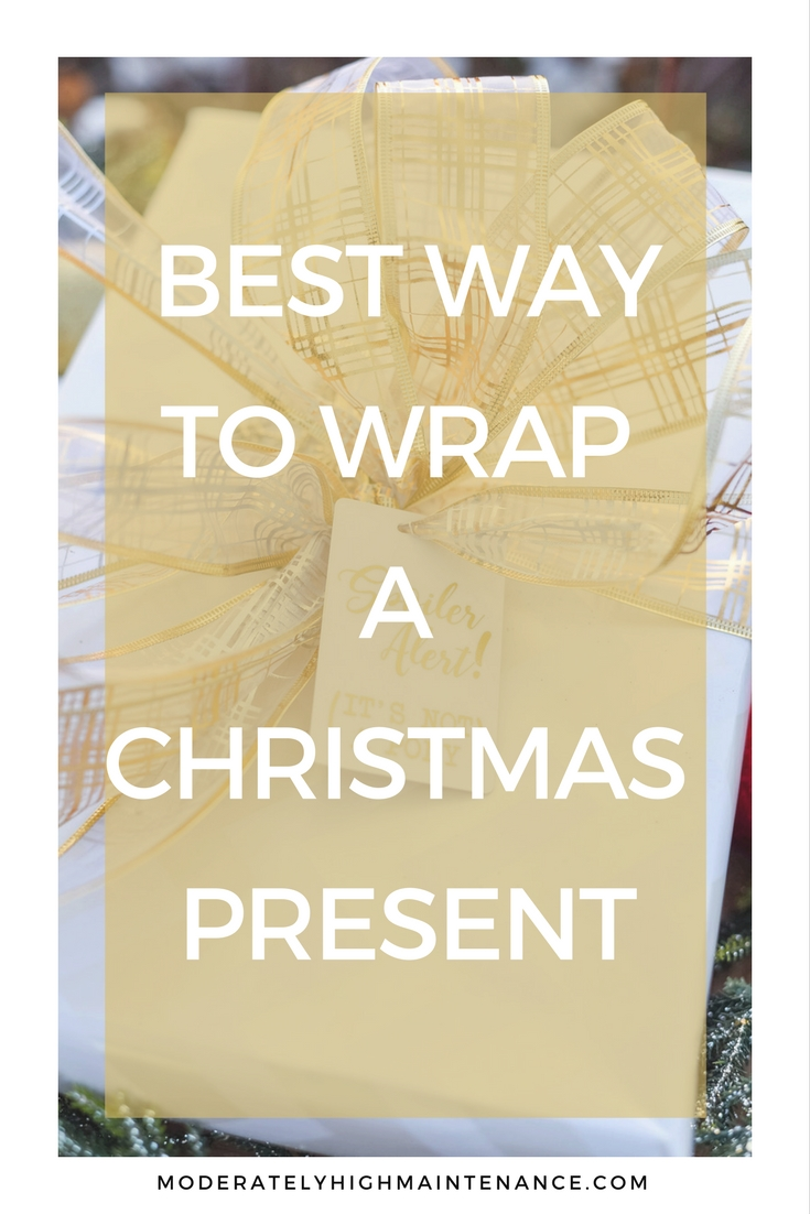 Christmas Gift Wrapping Ideas featured by top Atlanta lifestyle blogger, Moderately High Maintenance