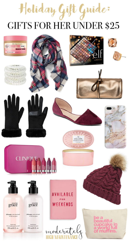 15 Lovely Gifts For Women Under $25 featured by top Atlanta lifestyle blogger, Moderately High Maintenance