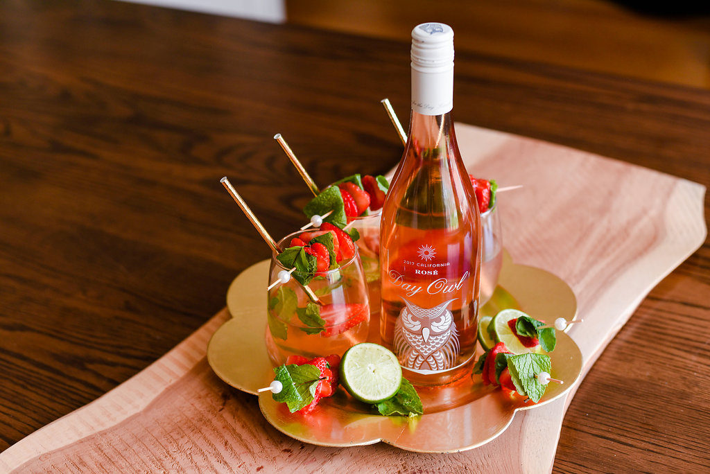Strawberry Day Owl Rosé Mojito Recipe
