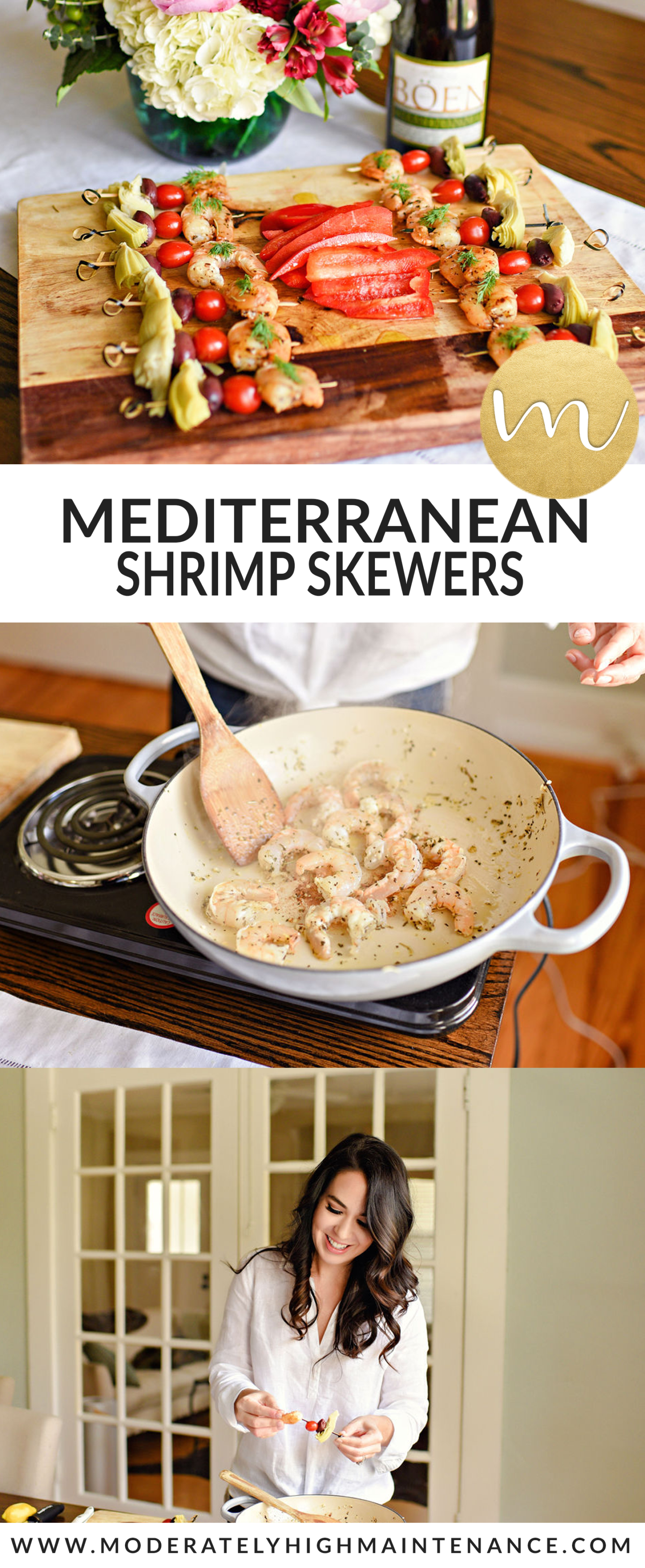 When I host a small gathering, I love making foods that are easy to pick up and enjoy. One of my favorite recipes is my Mediterranean Shrimp Skewers.