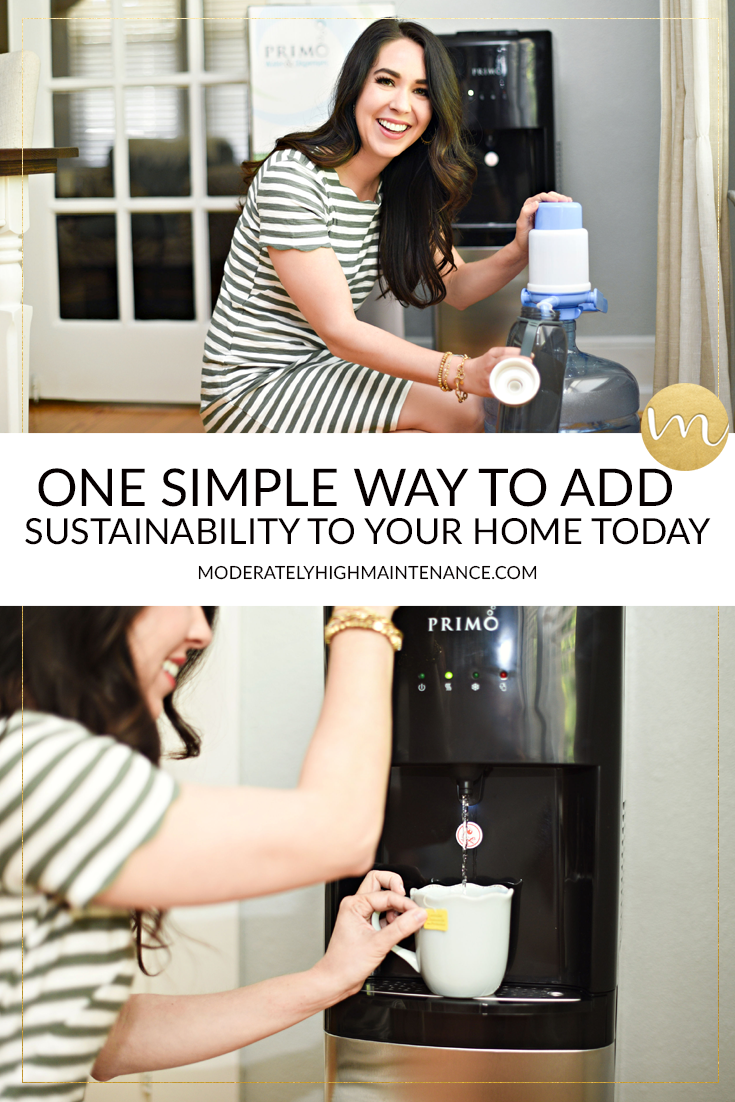 I've partnered with Primo® to share how we have added sustainability and disaster preparedness into our home with one simple step!