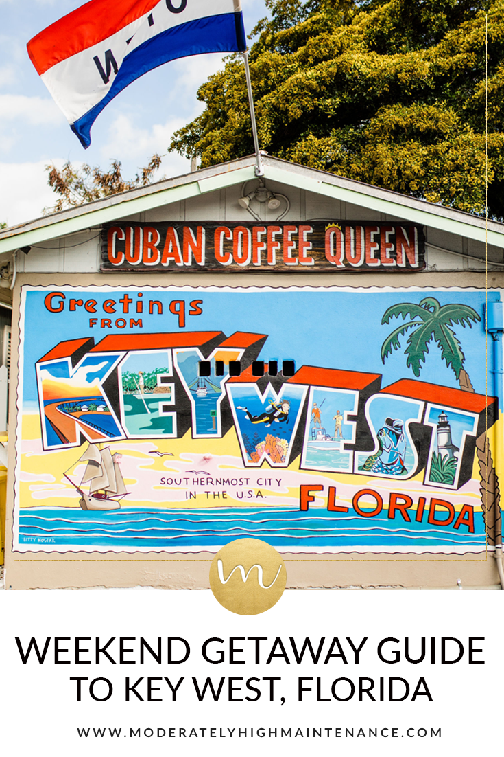 John and I recently took a quick trip to Key West and I wanted to share the Moderately High Maintenance guide for a weekend getaway in Key West, Florida!