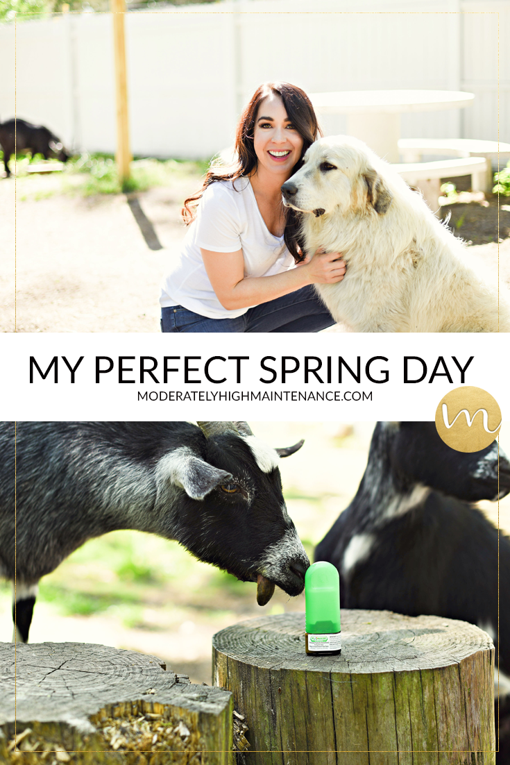 My perfect spring day includes spending time with goats on my hobby farm. I refuse to let allergies come between my and what I love so I use Flonase!