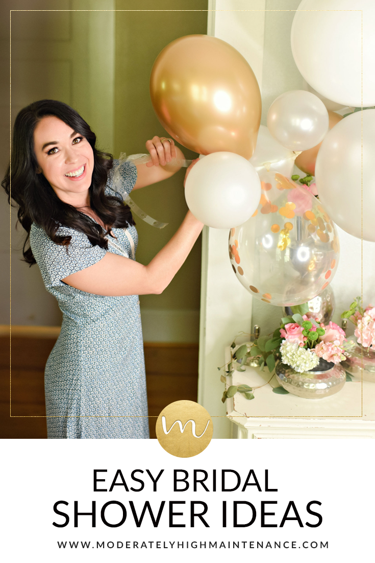 Easy Bridal Shower Ideas featured by top Atlanta lifestyle blogger, Moderately High Maintenance