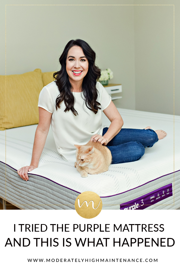 Purple Smart Comfort Grid Review featured by top Atlanta lifestyle blogger, Moderately High Maintenance
