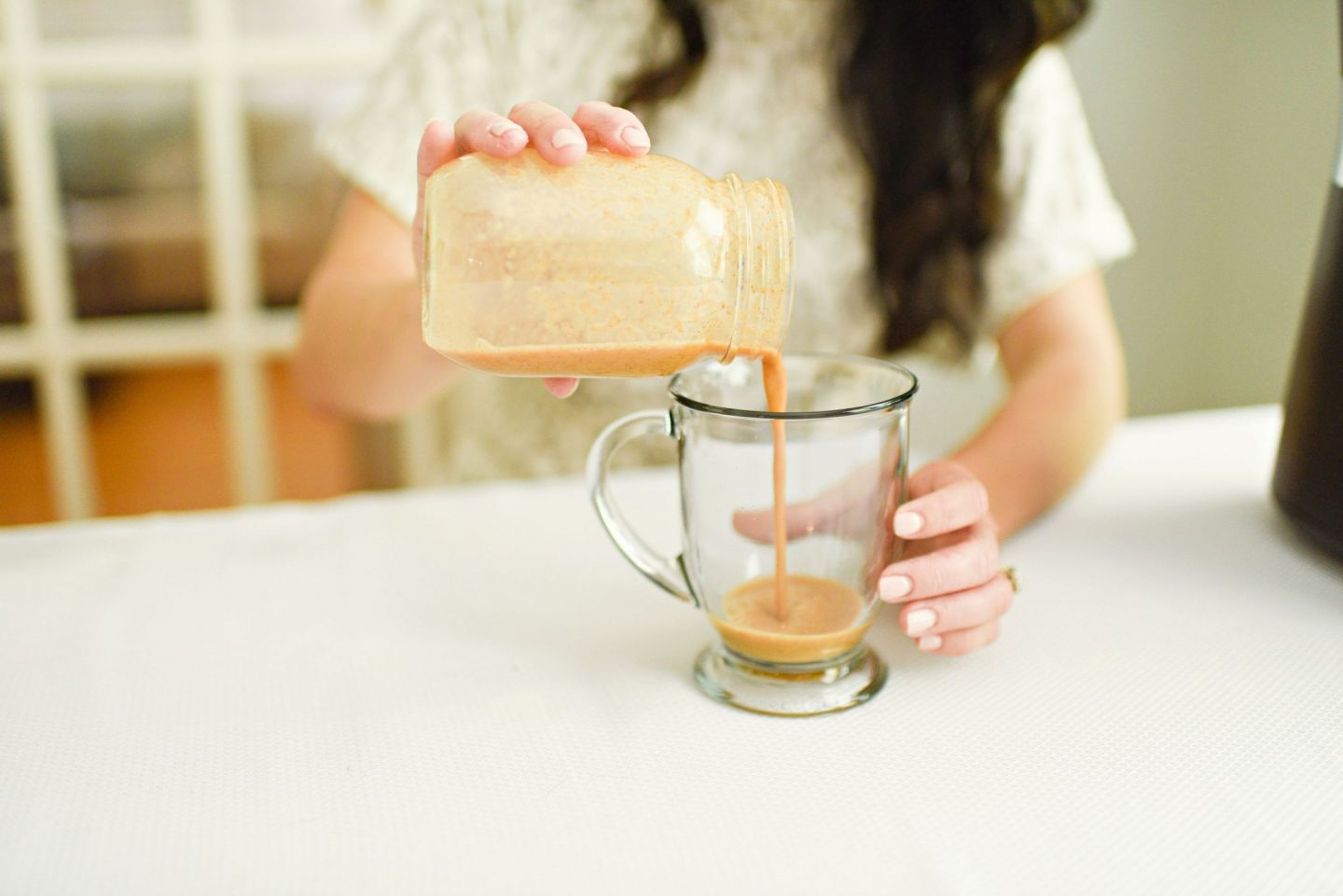 Dairy Free Pumpkin Spice Coffee Recipe featured by top Atlanta lifestyle blogger, Moderately High Maintenance