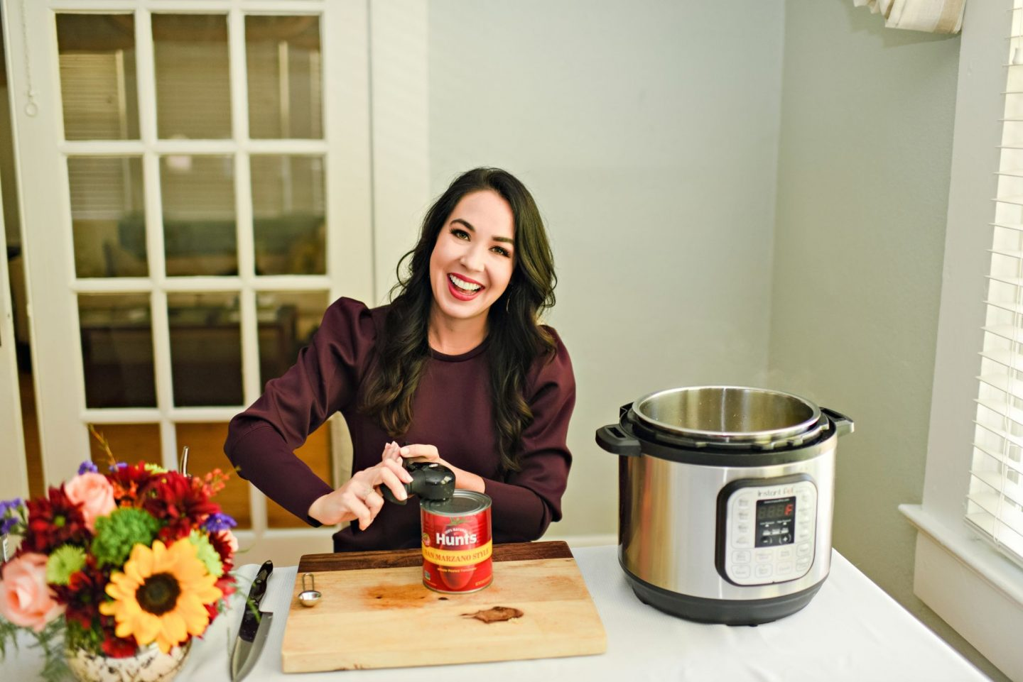 Pressure Cooker Italian Chicken Recipe featured by top Atlanta lifestyle blogger, Moderately High Maintenance