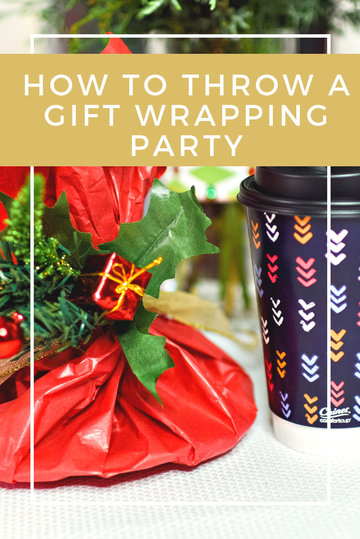 Here are a few tips to host a gift wrapping party that include yummy food, what to prepare, and what to send home with your friends!