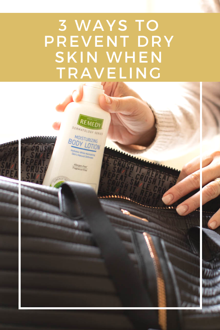 I have found ways that help me keep my skin feeling its best when I am traveling or it is cold outside. Here are three ways to help prevent dry skin!