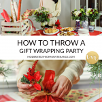 Gift Wrapping Party tips featured by top Atlanta lifestyle blogger, Moderately High Maintenance