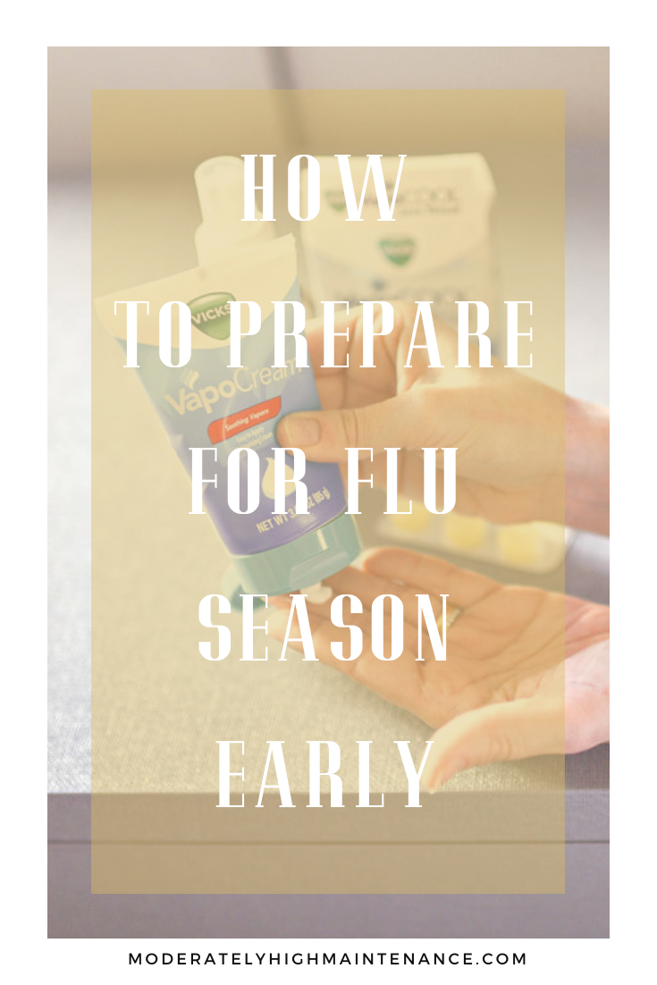 I always hope that I don't get the flu, but I stock up on supplies at the beginning of cold and flu season. Here is how I prepare for flu season early.