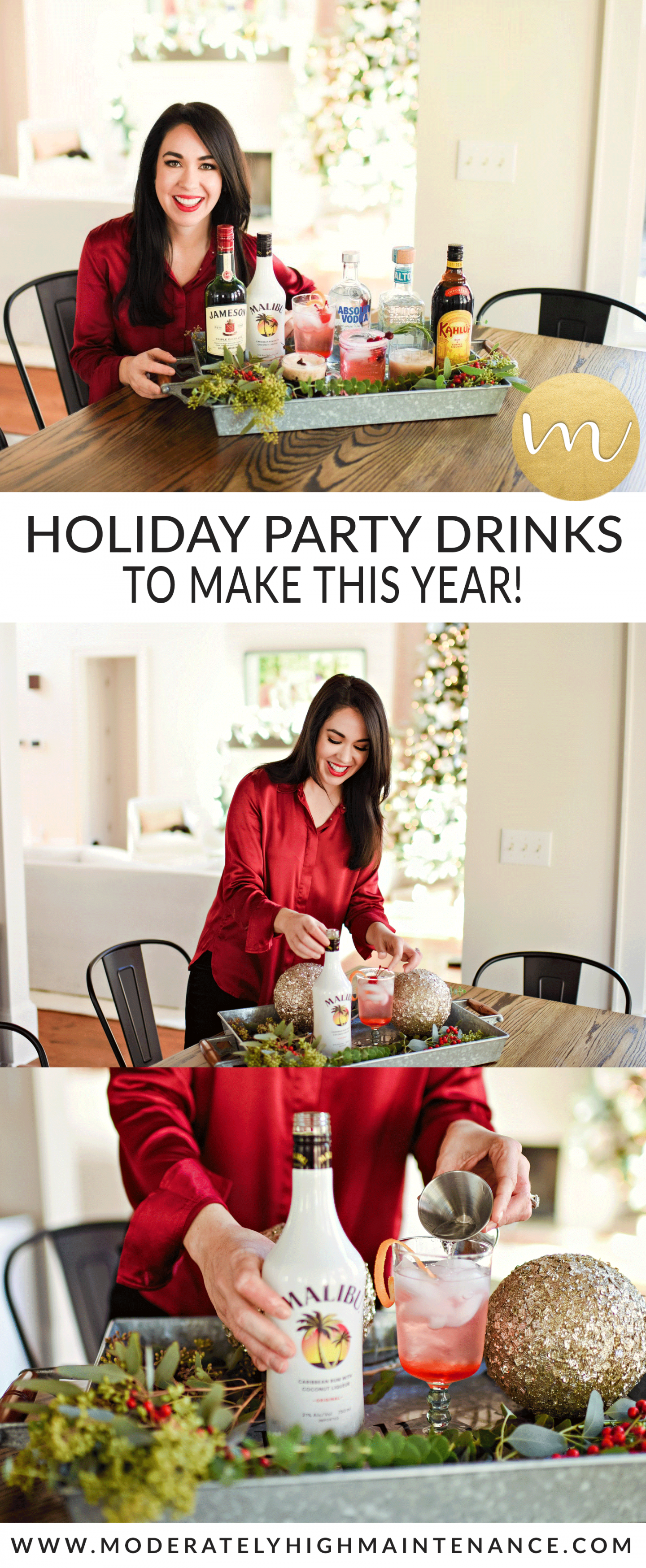 Here are four holiday party drinks featuring five spirits to make this year that are sure to please all of the guests on your list!