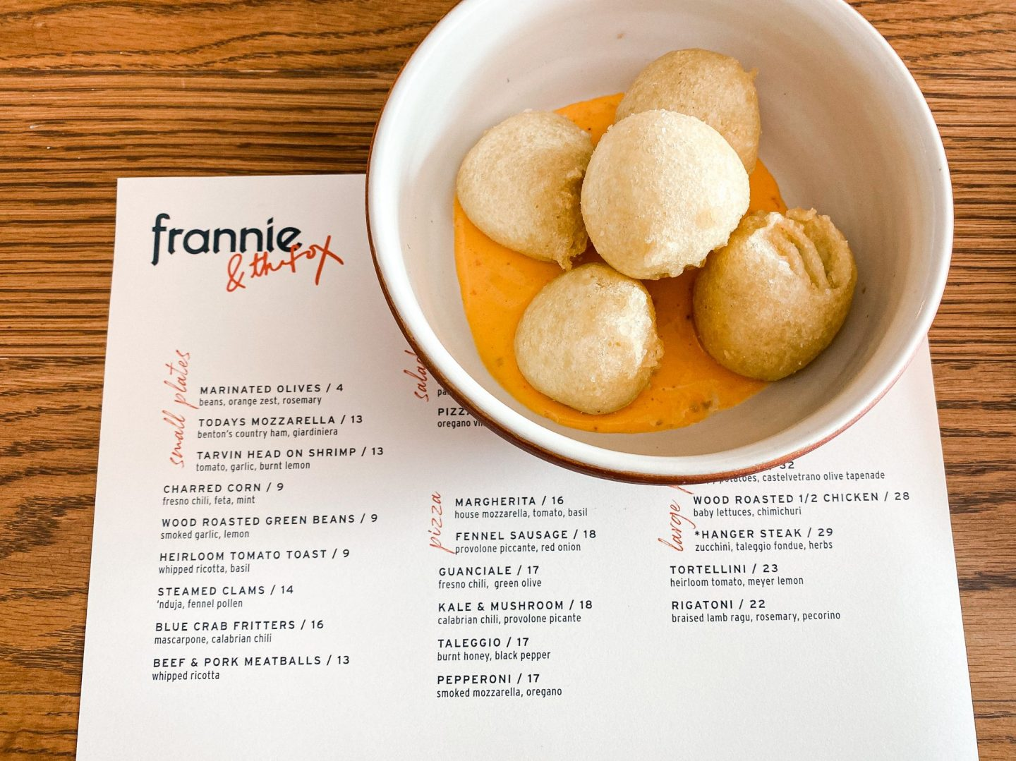 Frannie & Fox Crab Fritters