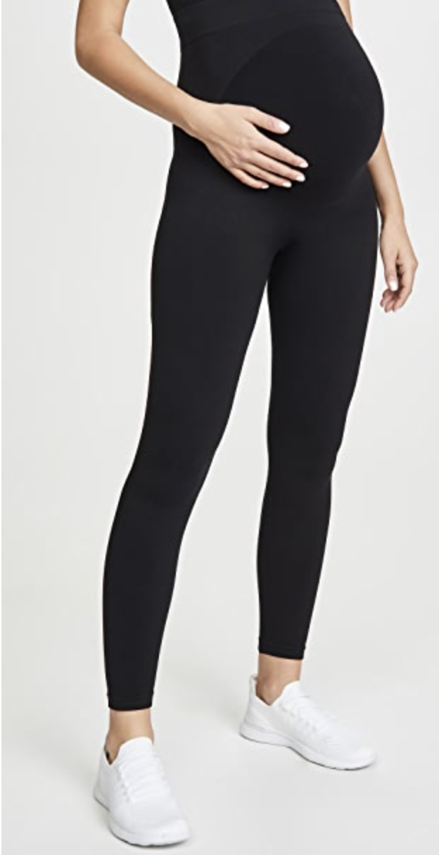 Amazon Favorites: 6 Pregnancy Essentials featured by top Atlanta lifestyle blogger, Moderately High Maintenance: Maternity leggings