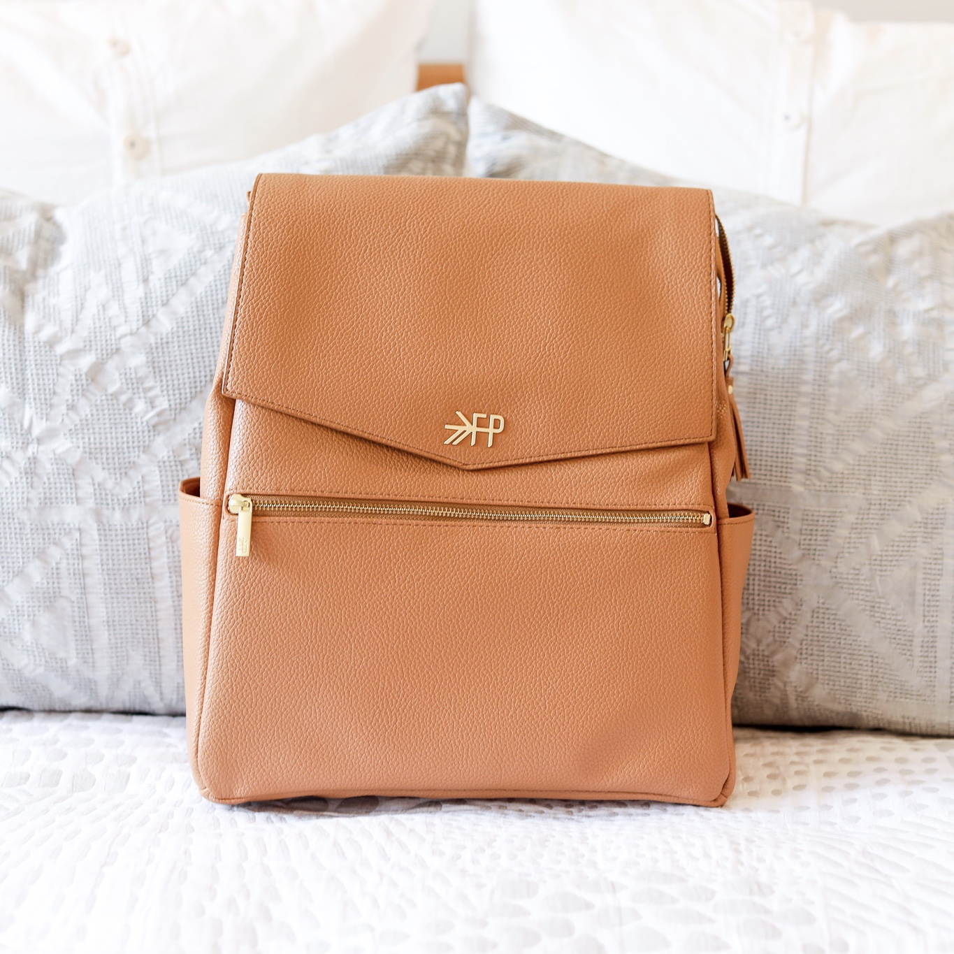 Best Baby Items by popular Atlanta motherhood blog, Moderately High Maintenance: image of a Freshly Picked diaper bag backpack.