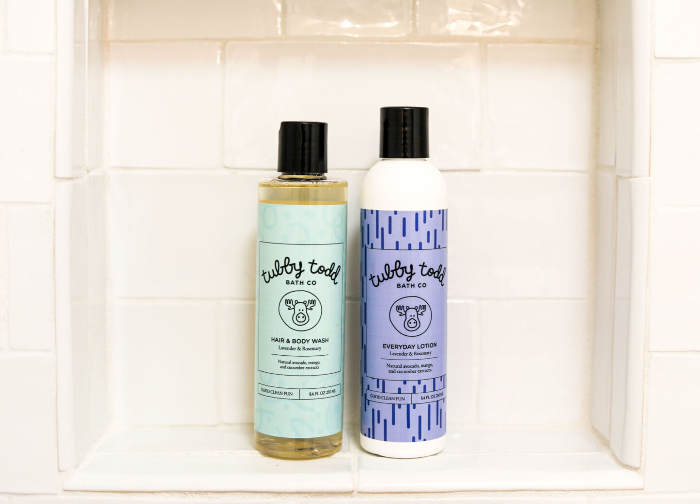 Best Baby Items by popular Atlanta motherhood blog, Moderately High Maintenance: image of Tubby Todd body wash and lotion.