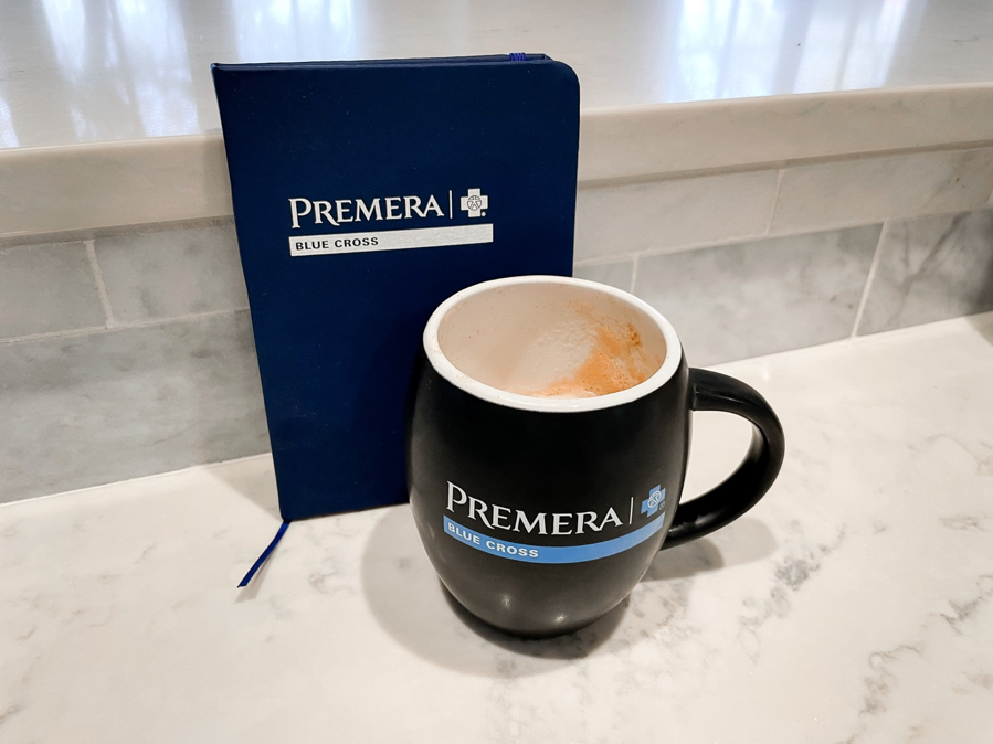 Grow Your Business by popular Atlanta lifestyle blog, Moderately High Maintenance: image of a Premera coffee mug and Premera portfolio.